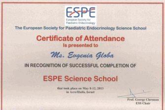 Глоба Евгения Викторовна - сертификат 9