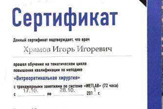 Храмов Игорь - врач-офтальмолог - хирург - 12