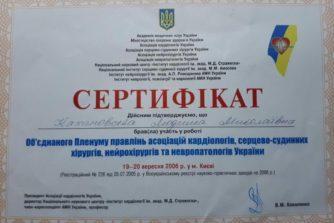 Кахановская Людмила - сертификат 9