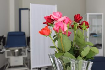 цветы в кабинете гинеколога