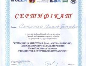 скляренко сертификат 5